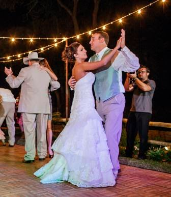 Ryan and Leslie, Reception, Dance, McGowan Images, Texas Ranch Wedding