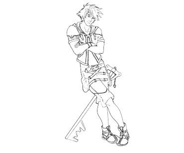 #8 Sora Coloring Page