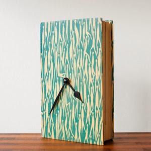 zegar z ksiązki DIY