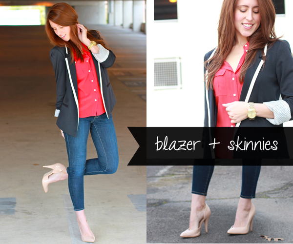Here & Now: 1 Blazer, 4 Ways - After Work Drinks | #WearWallisFashion