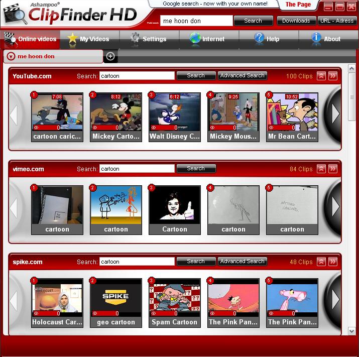 Ashampoo ClipFinder HD 2.3.5 Free Download
