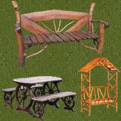 Actividades escolares bancos rusticos de madera muy buenas ideas para jardiner a for Juegos de jardin rusticos