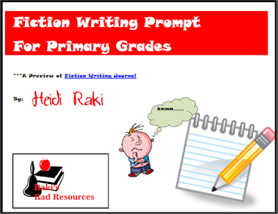 Fiction writing prompt for primary grades - free download from Raki's Rad Resources.