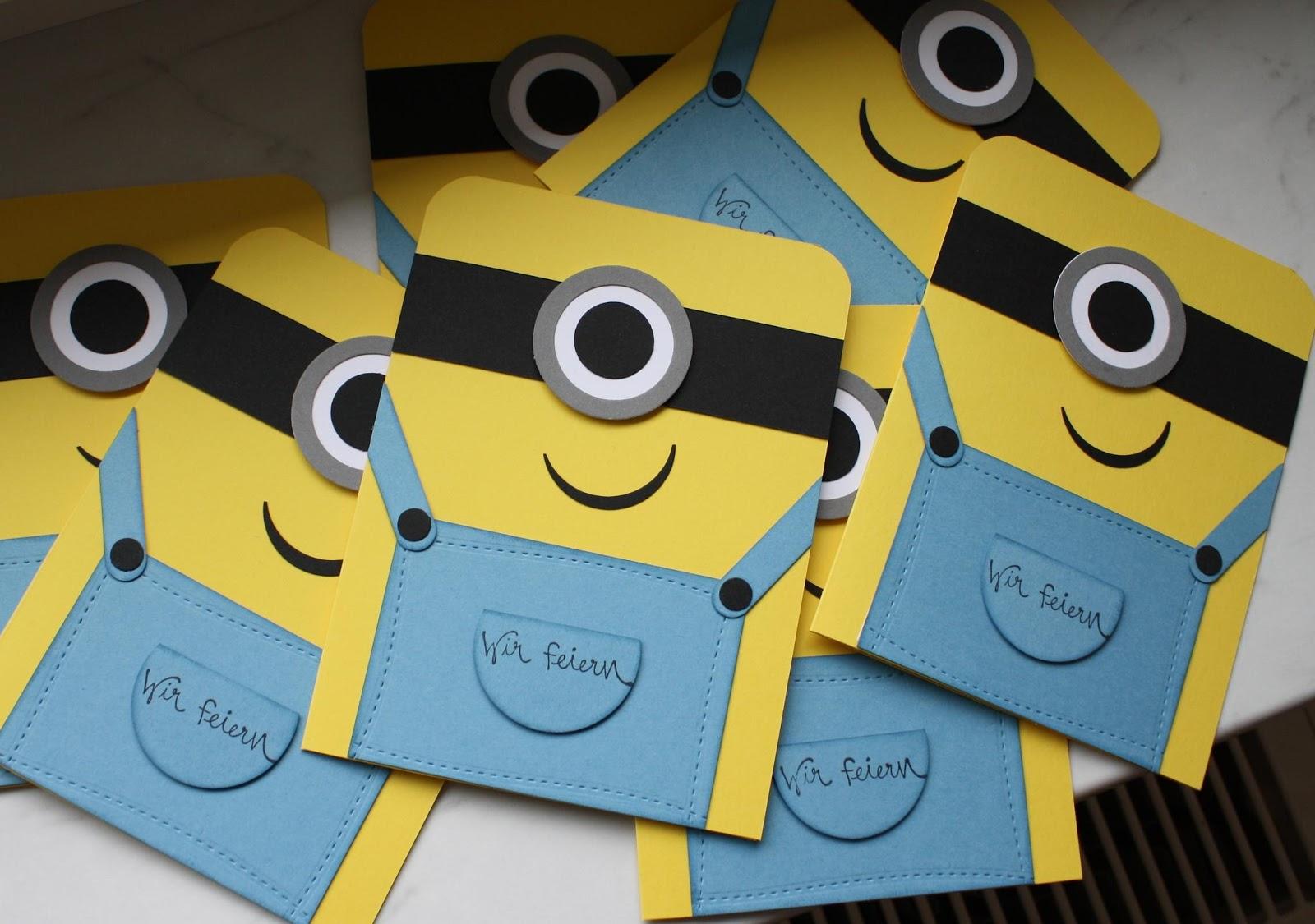 Minions Einladungskarten Vorlagen