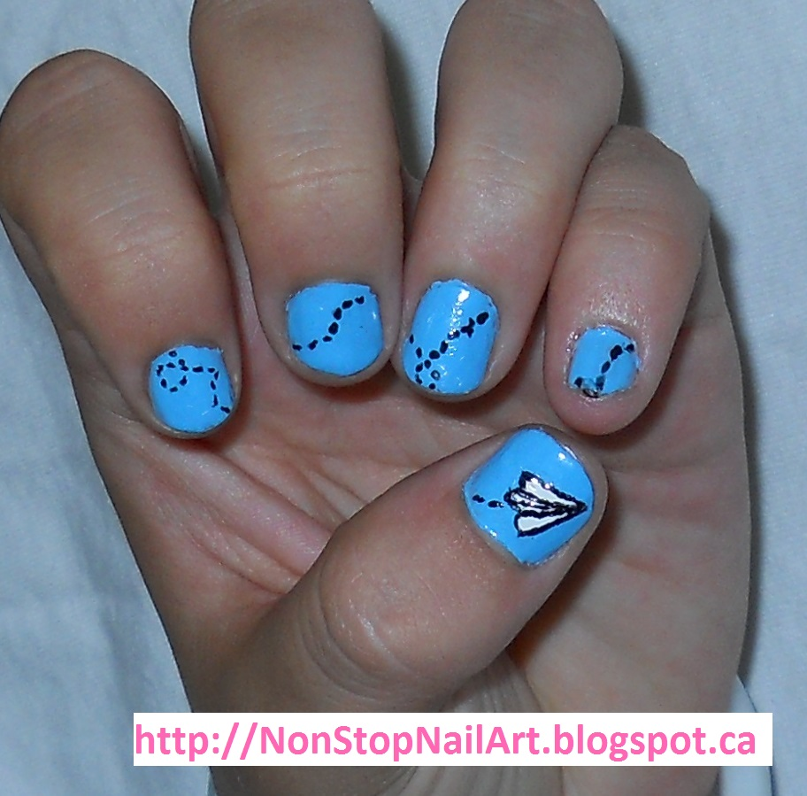 Paper Airplane Nails