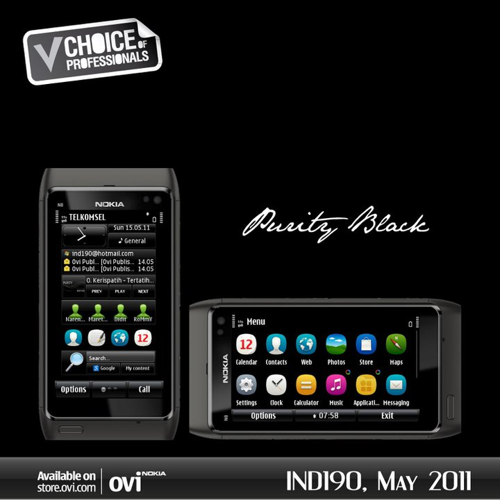 Nokia theme White & Black (N8 Original)