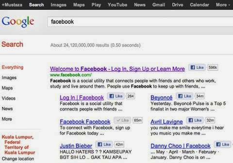 How to Show Enable Facebook Like Button In Google Search Result image