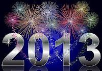 Cartão de Feliz Ano Novo 2012: Modelos Grátis para imprimir - Fogos artificio