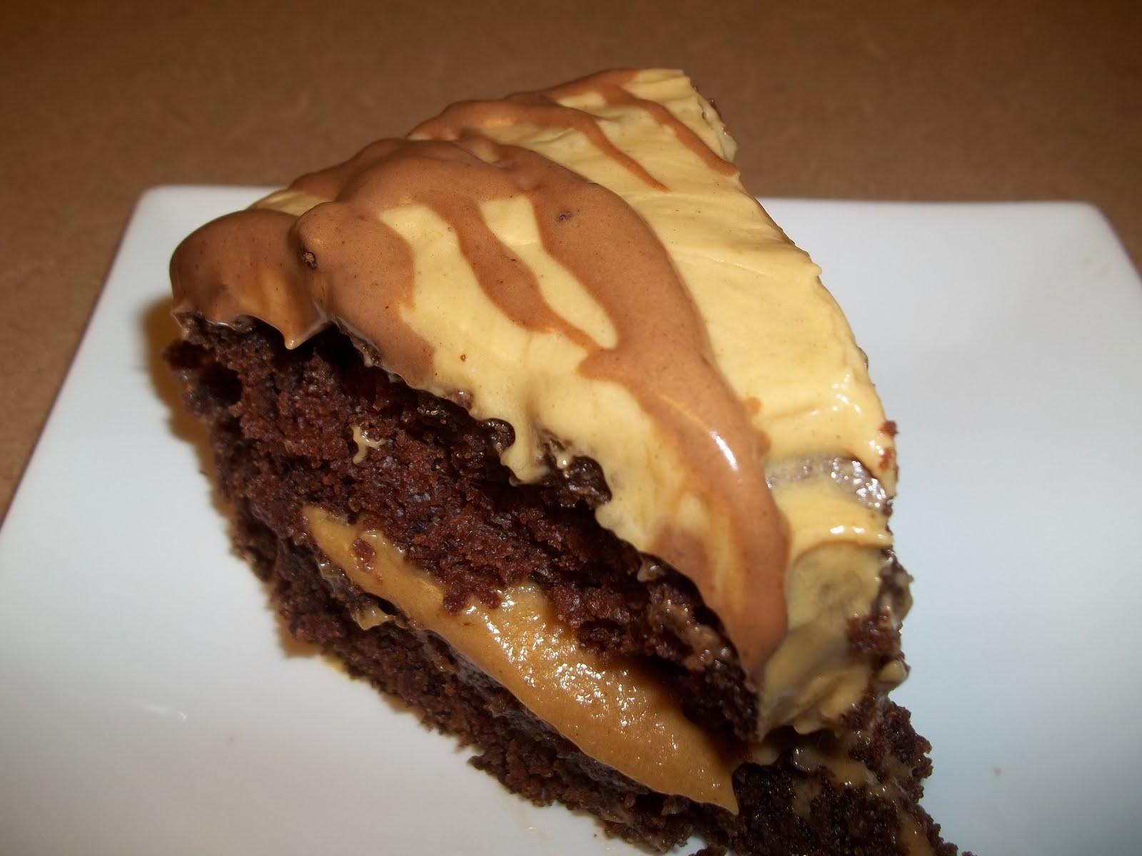 Chocolate Pound Cake with Peanut Butter Glaze Recipe