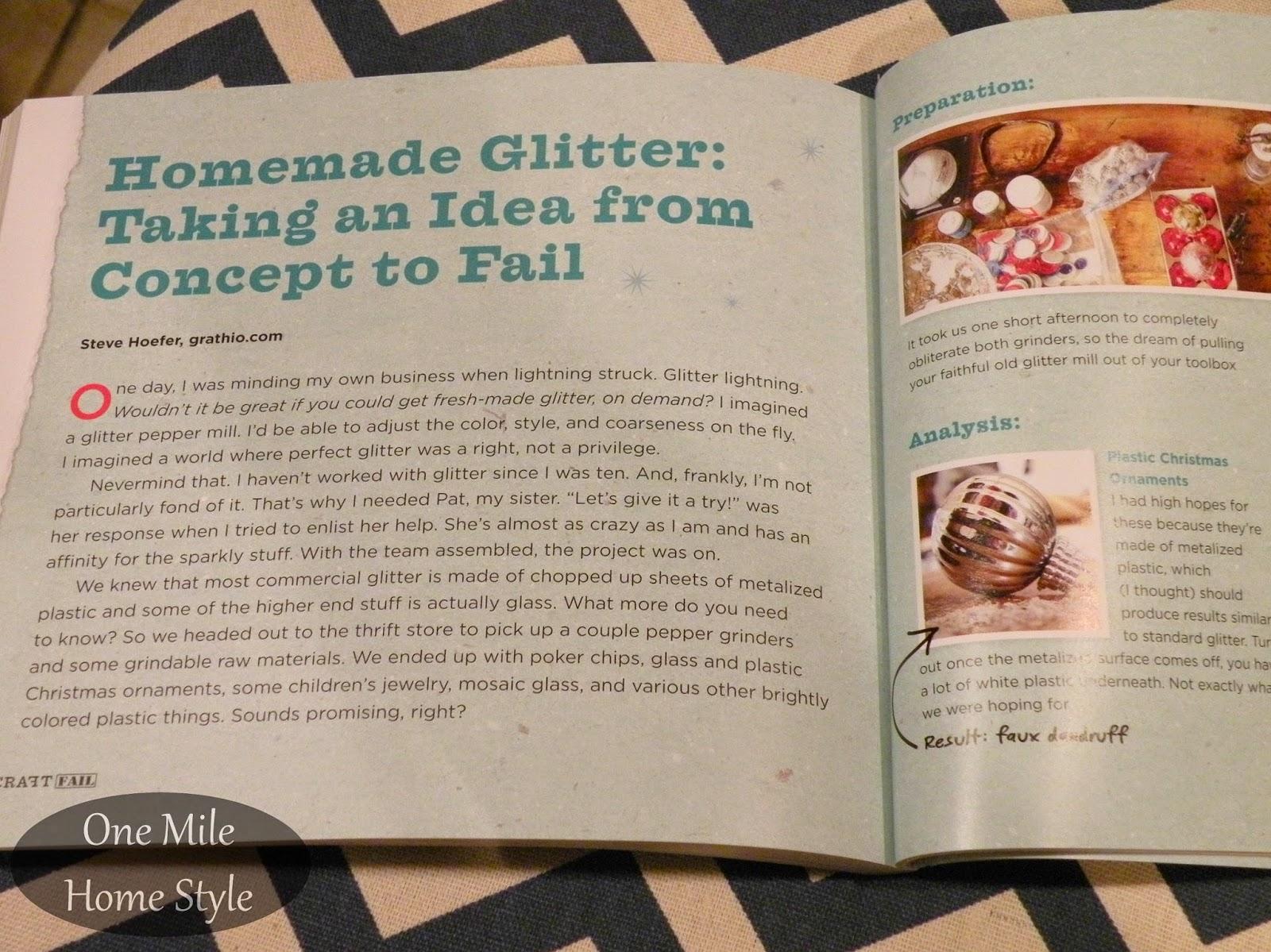 CraftFail - Book Review: Homemade Glitter