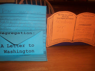 "Civil Rights elements for the Modern American History Lapbook. with ""a letter to my congressman regarding Civil Rights"" AND ""What my Civil Rights Book would be titled and three key points it would cover."""
