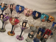 Hand Painted Personalized Portrait Glasses