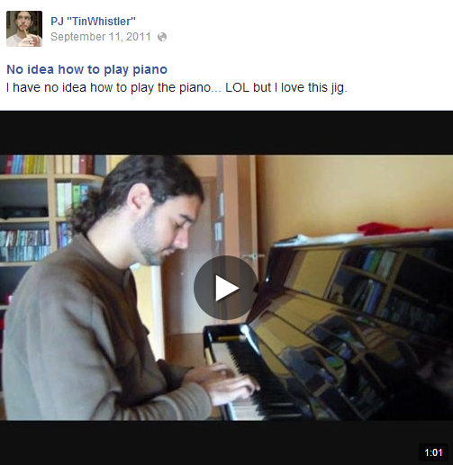 No idea how to play piano (video on FB)