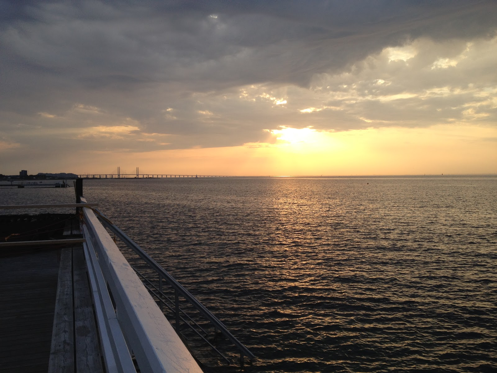 sunset in Oresund as seen from Bo01 in Vastra Hamnen