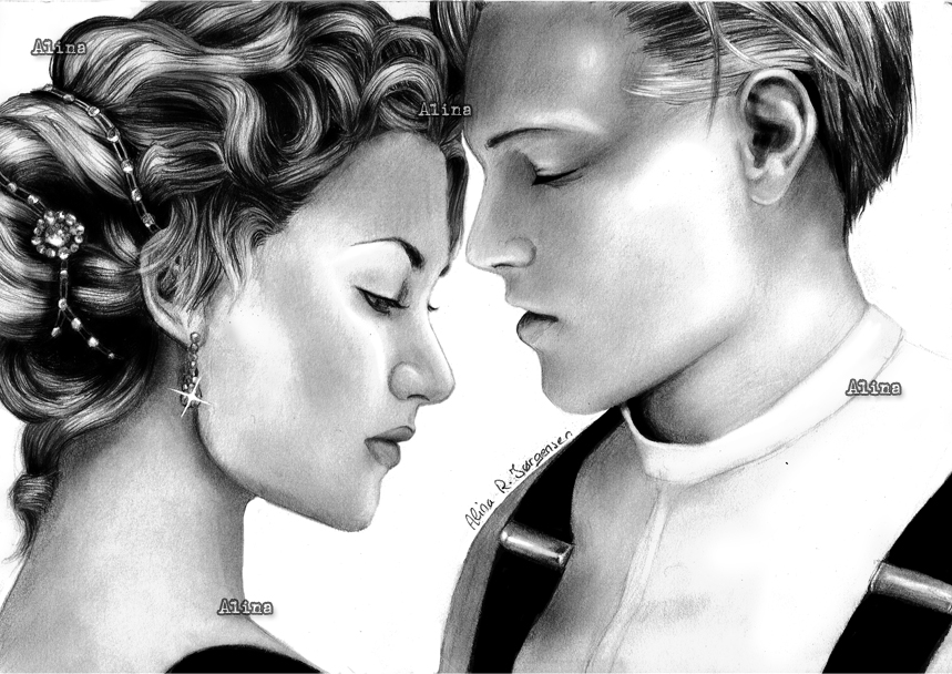 Jack And Rose Titanic Drawing High Resolution 859 X 608 Art