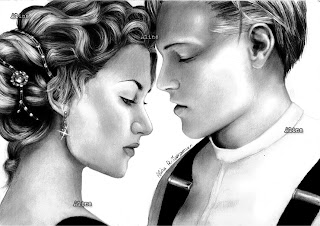 Titanic Lovers Rose And Jack Drawing HD Wallpaper