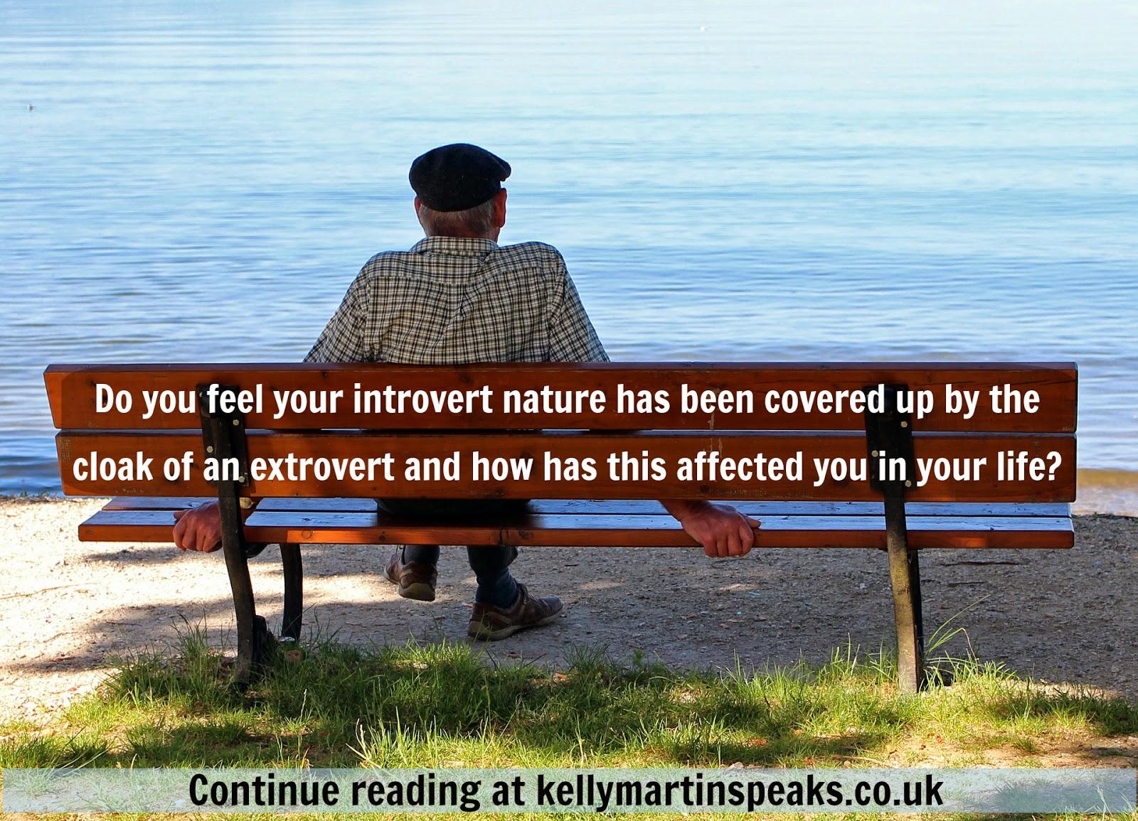 Introvert Man Sitting Alone Bench