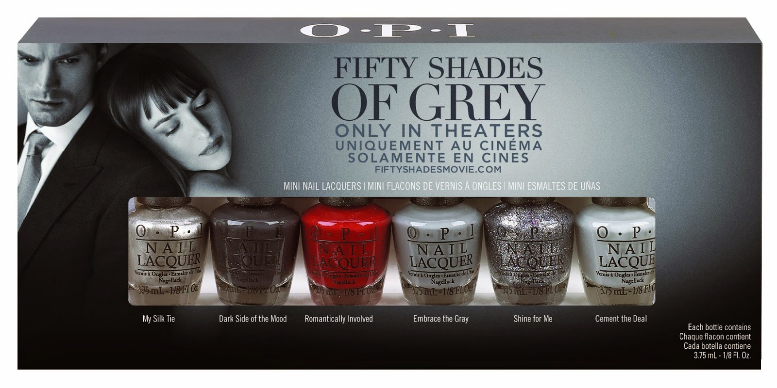 O.P.I launches 50 shades of Grey collection + GIVEAWAY movie passes