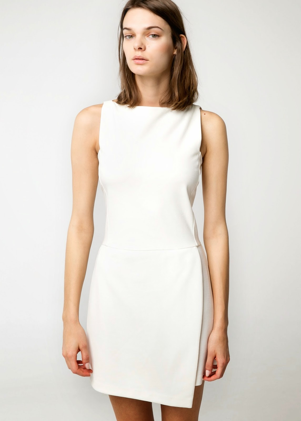 mango white dress