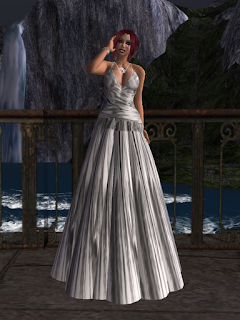 silver ballgown