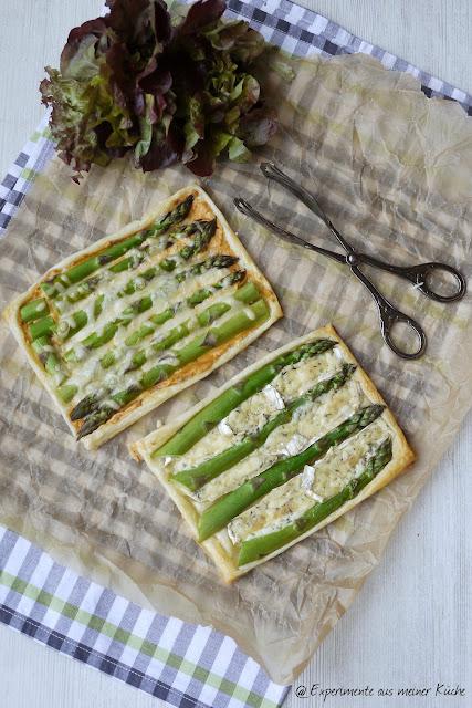 Experimente aus meiner Küche: Spargel-Blätterteig-Tarte
