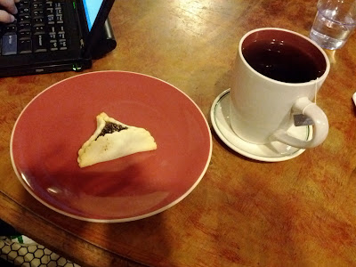 Hamantash and earl grey tea from The Prolific Oven