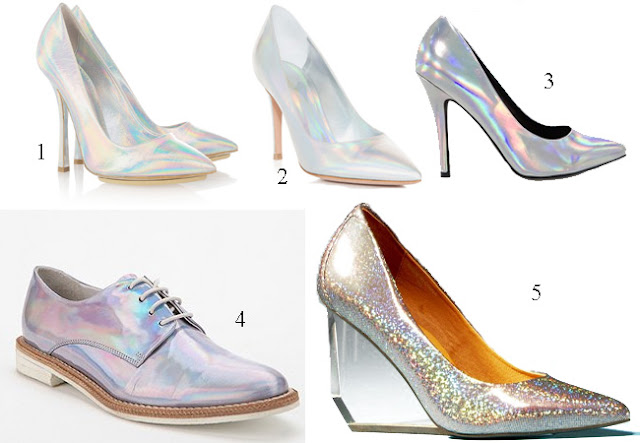 hologram shoes, holographic shoes