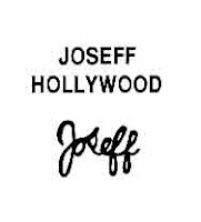 """Joseff of Hollywood used two different signatures, and there appears to be quite a lot of confusion about the dates. The """"block"""" signature is generally regarded as having been used up to the early 1950s, while the """"script"""" signature was in use from 1938."""
