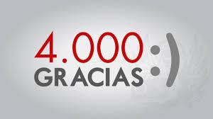 4000 visitas en los 25 días del blog: