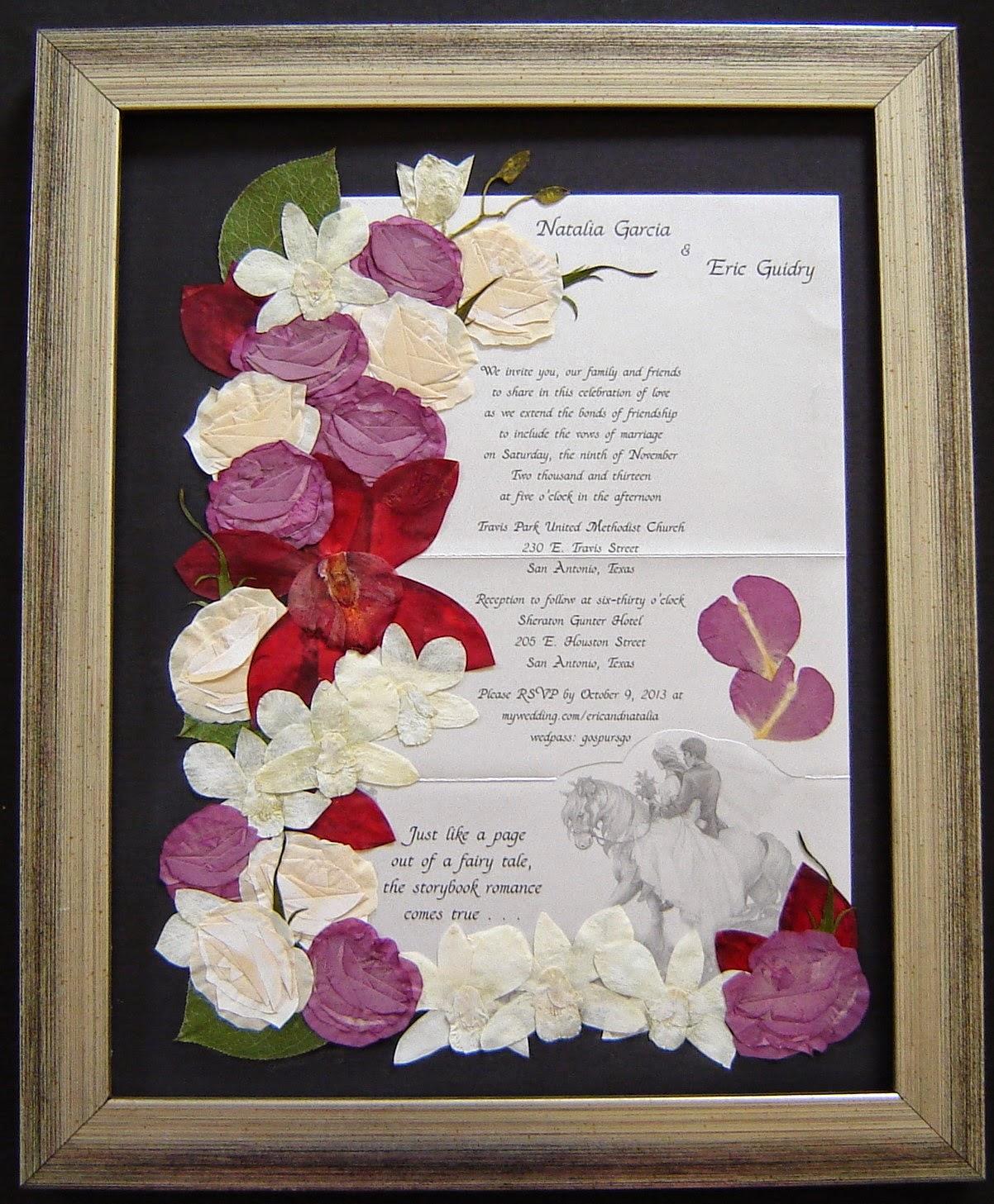 Pressed Garden: Natalia\'s Beautiful Bridal Bouquet!