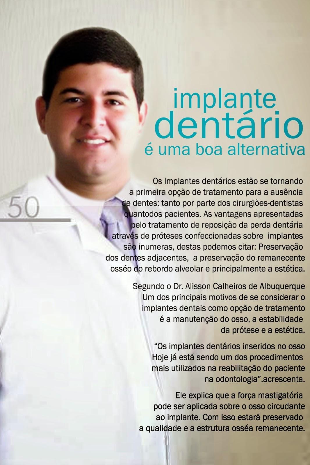 Bom Conselho ganha o 1º Cirurgião Dentista e Implantodontista