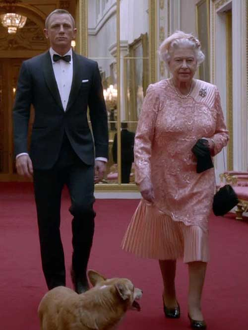 London 2012 Olympics Opening Ceremony Bond and Queen Elizabeth