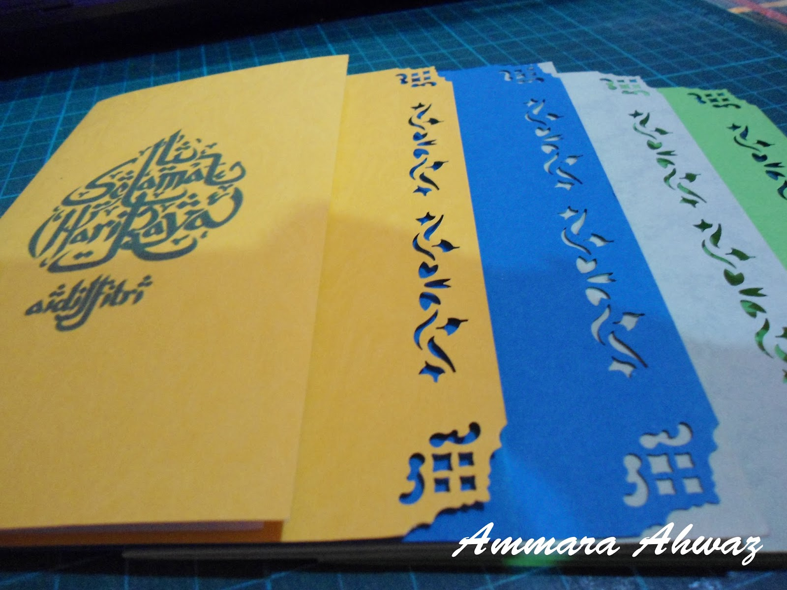 Ammara Ahwaz Simple Pop Up Card Kad Hari Raya