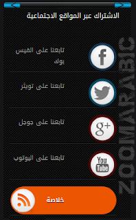 أزرار المواقع الاٍجتماعية بتاثير CSS لمدونتك