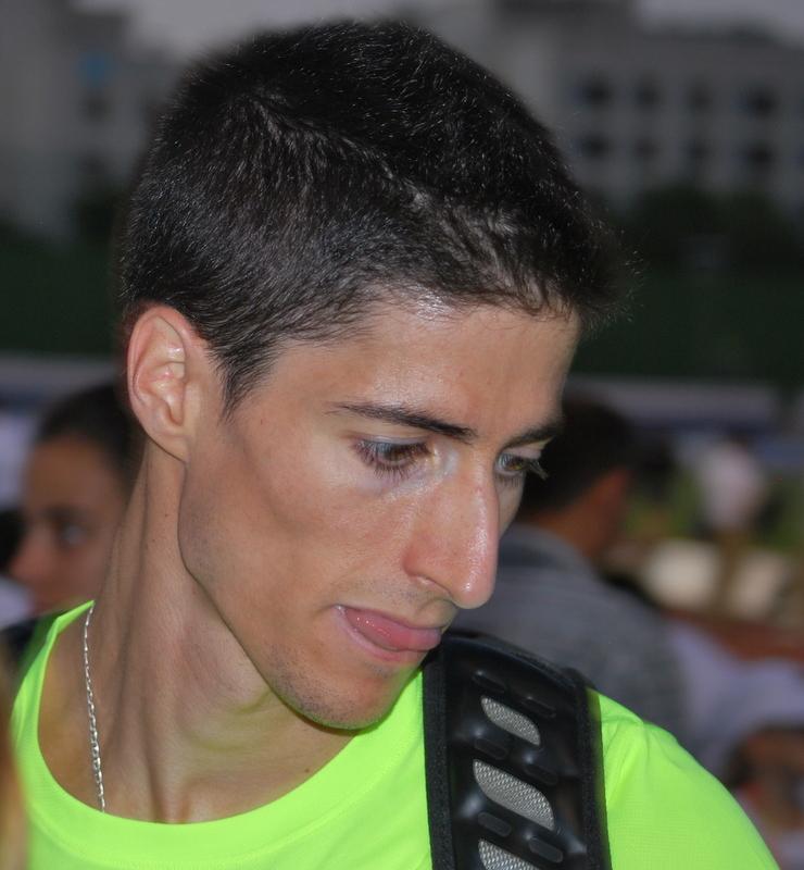 Luis Alberto Marco Contreras (1:45.94), Alejandro Estévez Martín (1:46.35) y Alejandro Rodríguez Heredia (1:46.39), en los 800 metros de Huelva - 1-67%2BMoratalaz%2B07-07-2012%2B1038