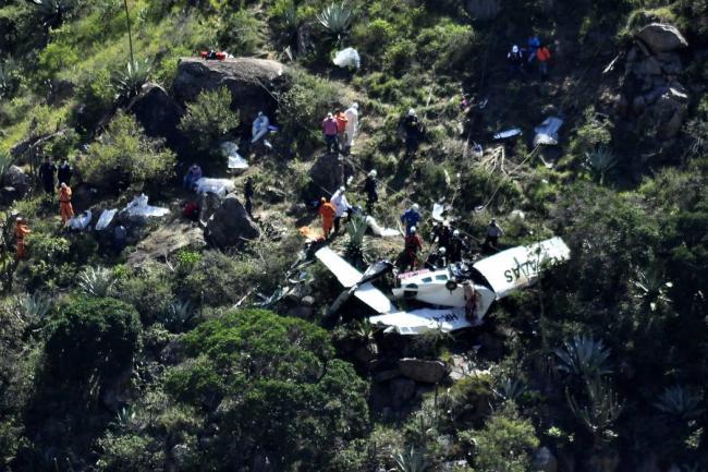 Revelan causas de caída de avioneta que viajaba a Bucaramanga