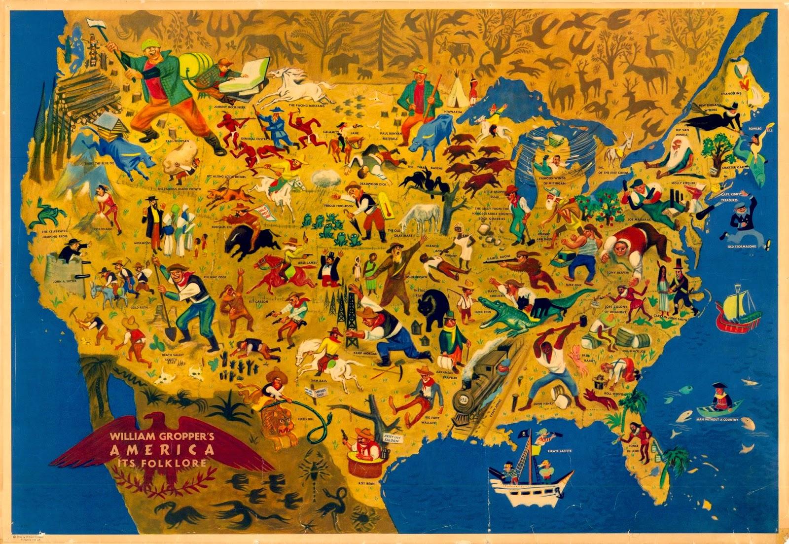 Antique Prints Blog 20th Century Pictorial Maps