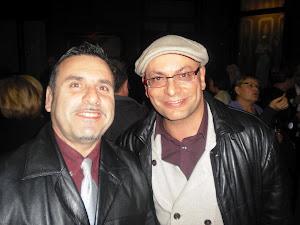 Amb el poeta Guillem Vallejo.