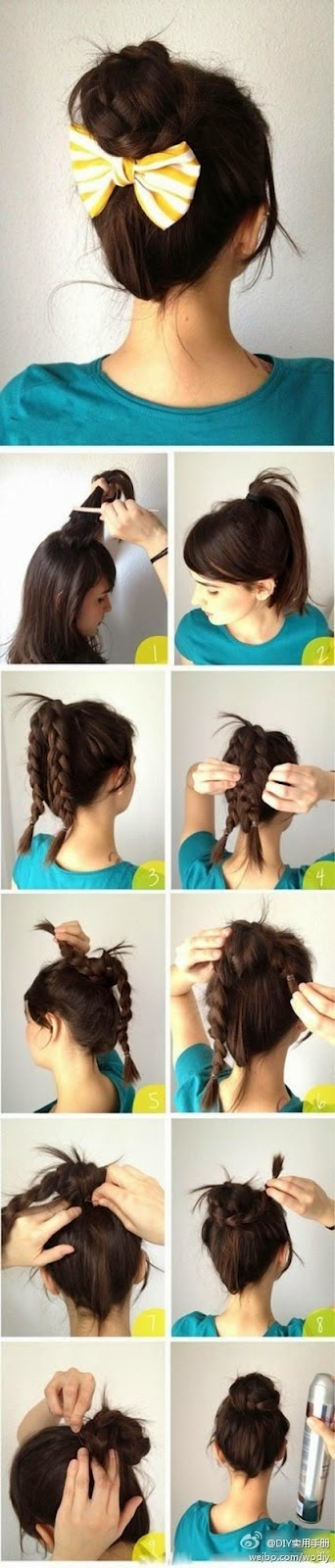 Cara Menata Rambut Panjang Yang Mudah Ala Braided Bun