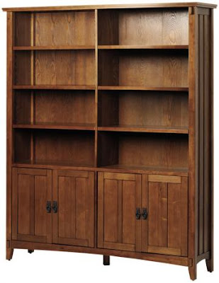 wood-door-bookcases