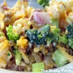 Broccoli Pasta Salad... side dish or supper it works either way!