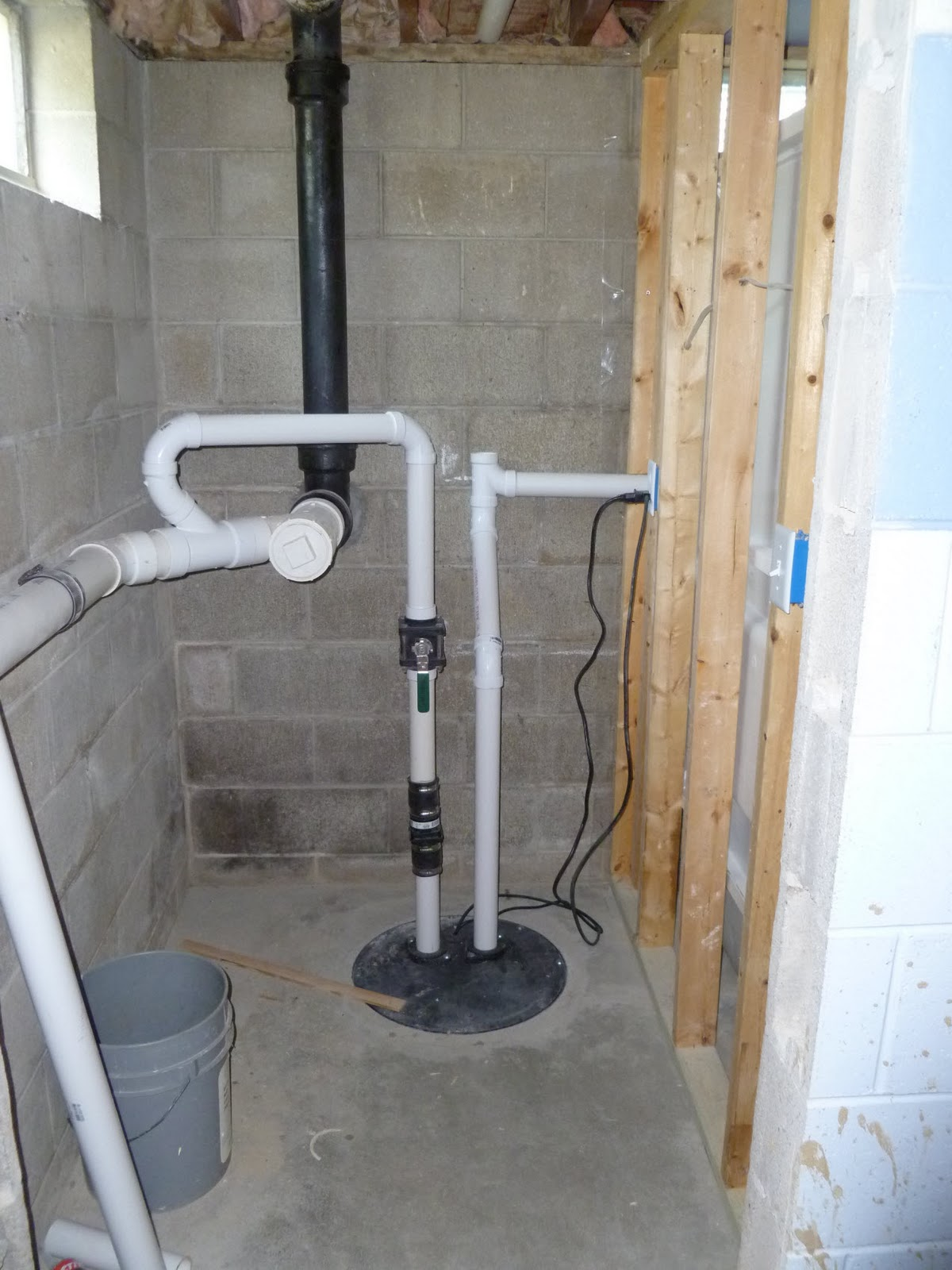 three things very dull indeed basement bathroom project On bathroom pumps