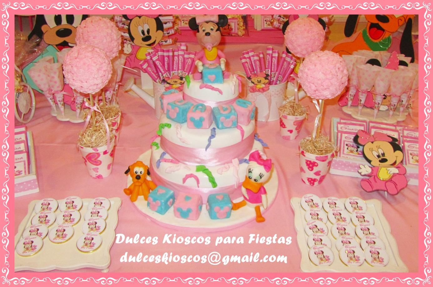 """Dulces Kioscos para Fiestas"""" : Cumple tematico de Minnie Bebe!!"""