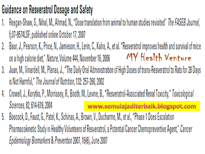 Guidance on resveratrol and safety