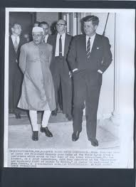 Nehru with Kennedy