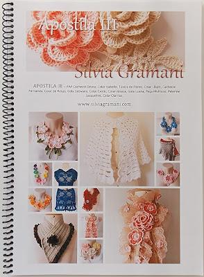 colar de crochê com flores, apostila de colares de crochê, como fazer colar de croche com flores