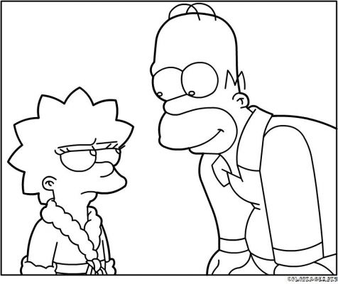Cartoons coloring pages lisa simpsons coloring pages - Dessin homer simpson ...