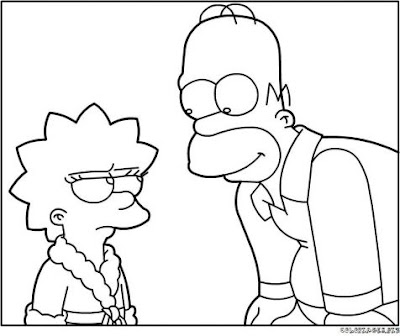 Marge simpson coloring pages - Dessiner marge simpson ...