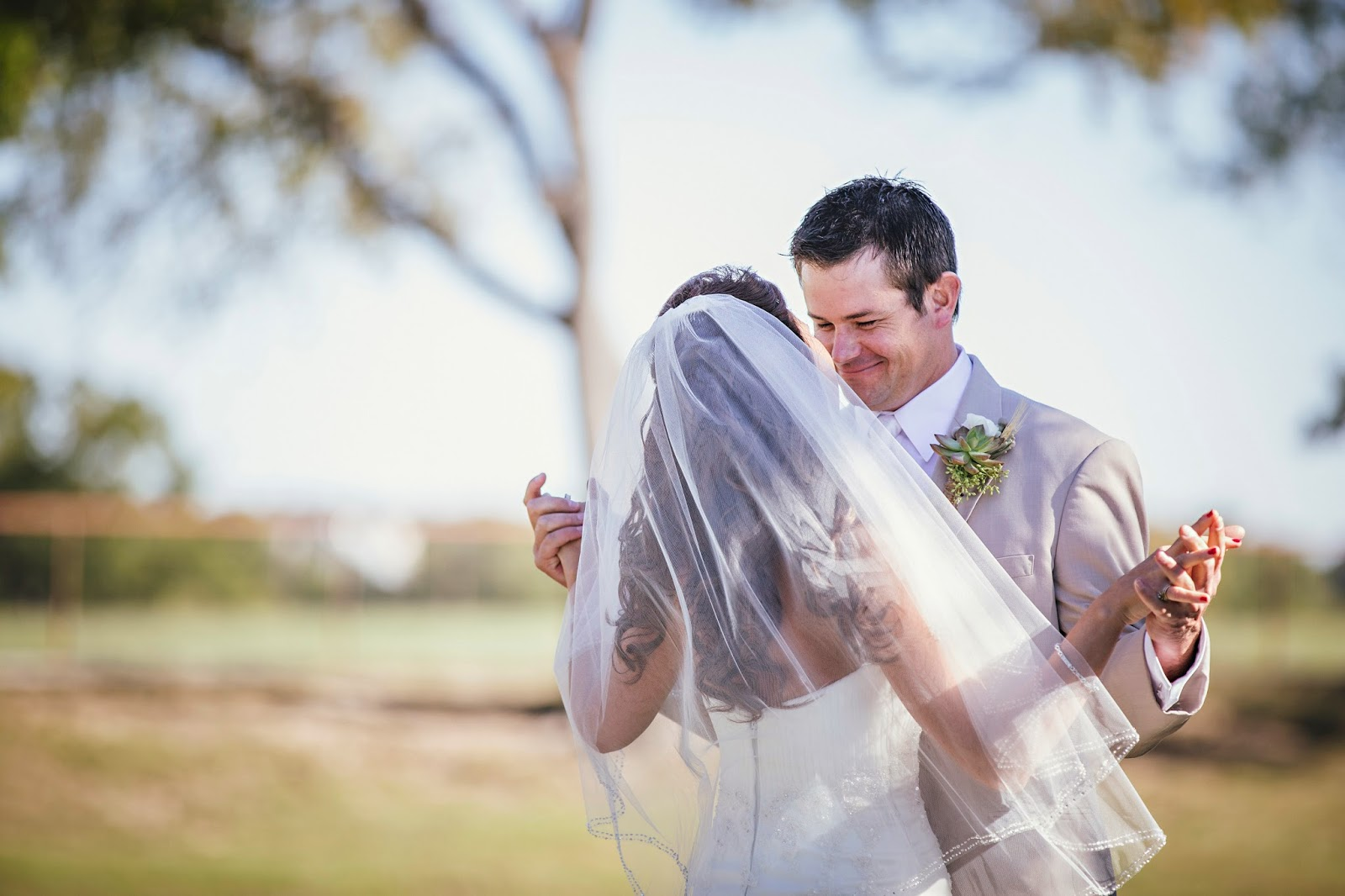 First Look, OW Ranch Wedding