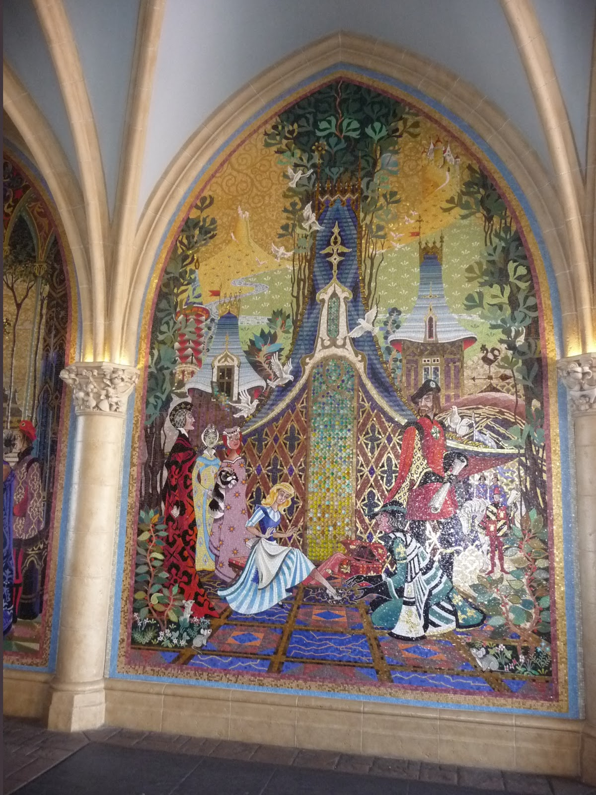 Adventures in pei and beyond a little girl 39 s dream comes for Cinderella castle mural